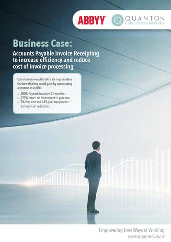 Business Case ABBYY Acounts Payable Invoice Receipting