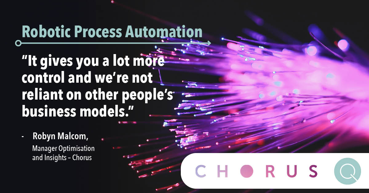 Benefits of Robotic Process Automation Chorus programme with Quanton